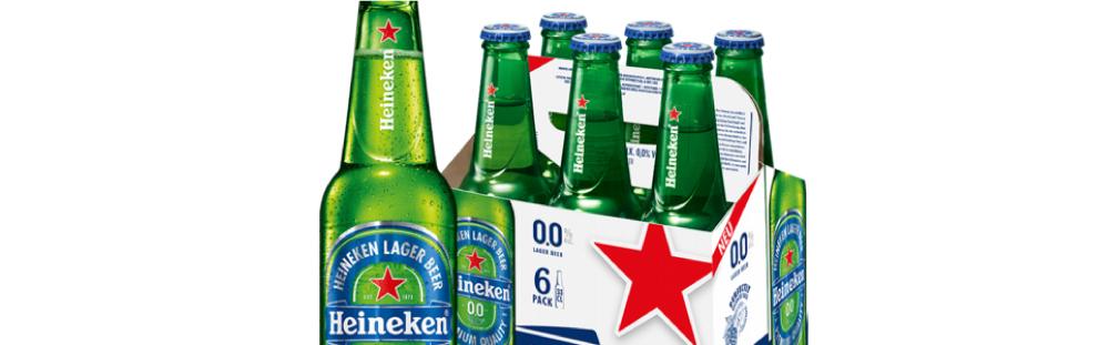 Fľaša a skupinové balenie piva Heineken