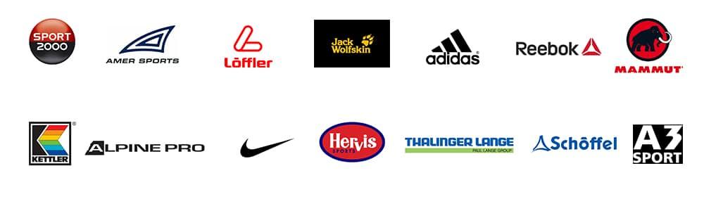 Logos der Sportfachhändler, die EDI nutzten