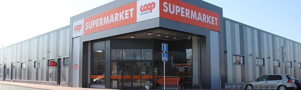 predajňa spoločnosti COOP Jednota