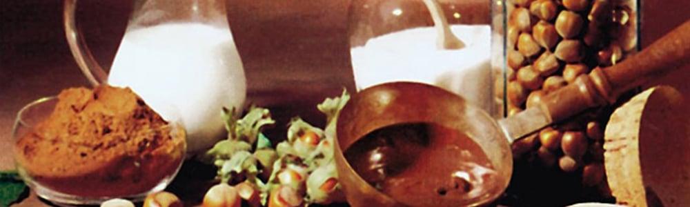 ingrediencie na prípravu čokolády symbolizujúce produkty značky Ferrero