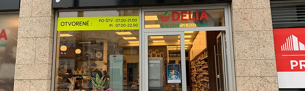 predajňa siete Delia