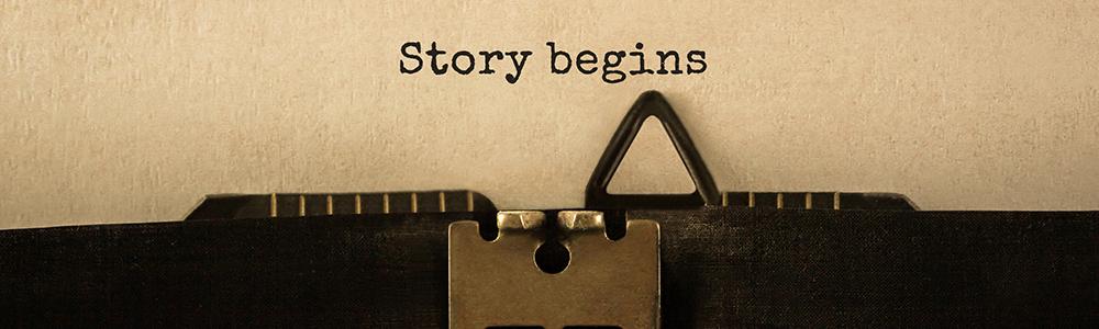 """Nápis v písacom stroji """"Príbeh sa začína"""" symbolizuje prechod na EDI: prvé kroky sú jednoduché"""